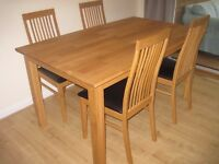 Dining table and 4 chairs in 'as new' condition - £75