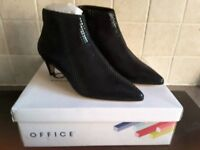 Ankle Boots By Office Size 4 Black Snake Effect Brand New In Box Can Post