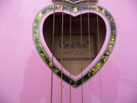 Pink acoustic guitar 3/4 size
