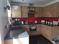 Kitchen units and worktops plus added bits