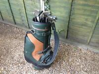 Golf bag and clubs - adult set for starting up
