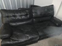 £2000 Large black electric sofa REDUCED MUST GO