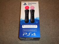 Brand New Sealed Sony PlayStation Move Motion Controller Twin Pack (PS4/PSVR)