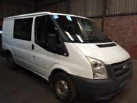 2007 (57) FORD TRANSIT T260 2.2 SWB 85 BHP CREW VAN ONE PREVIOUS KEEPER AUGUST 2018 MOT NO VAT