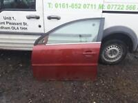 2007 Vauxhall vectra passenger side front door in pomegranate red
