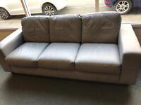 3 + 2 Seater Grey Leather Sofa £100