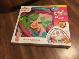 Bright starts play mat gym with toys
