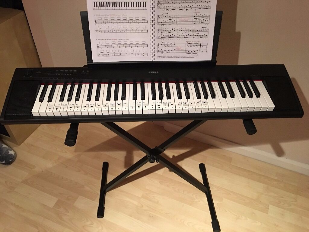 yamaha np12 digital piano stand music book in