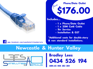 Phone/Data Outlet $176.00 Gillieston Heights Maitland Area Preview