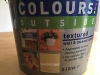 B&q unopened outside wall and masonry paint 5L