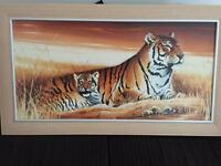 Large tiger canvas frame
