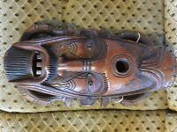 Nigerian tribal hardwood mask