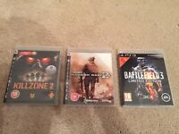 PS3 Killzone 2 - Call of Duty Modern Warfare 2 - Battlefield 3