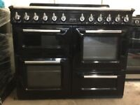 Smeg range dual fuel gas cooker TR4110BL black 110cm FSD 3 months warranty free local delivery!!!!!