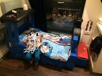 THOMAS THE TANK TODDLER BED WITH ALMOST NEW MATTRESS AND DELIVERY