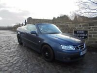 Saab 9-3 Vector 150bhp S-A Automatic Convertible In Blue, 2006 06 reg, Fully Electric Roof