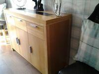 Warm oak furniture. Living & dining room.