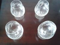 28 Cut glass glasses incl wine, brandy, champagne, sherry, whiskey