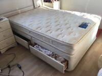 Double bed & matching silent night deep mattress