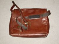 VISCONTI LEATHER MESSNGER/LAP TOP BAG - NEW