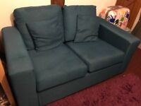Blue two seater sofa- FREE