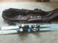 Skis poles ski bag with wheels and burton lock