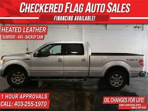 2014 Ford F-150 LARIAT-HTD/AC LEATHER-SUNROOF-B.UP CAM-CAR START