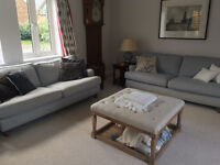 New soaf for christmas! 2 x 3 seater Heals sofas in good condition