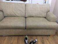 Beige double sofa bed