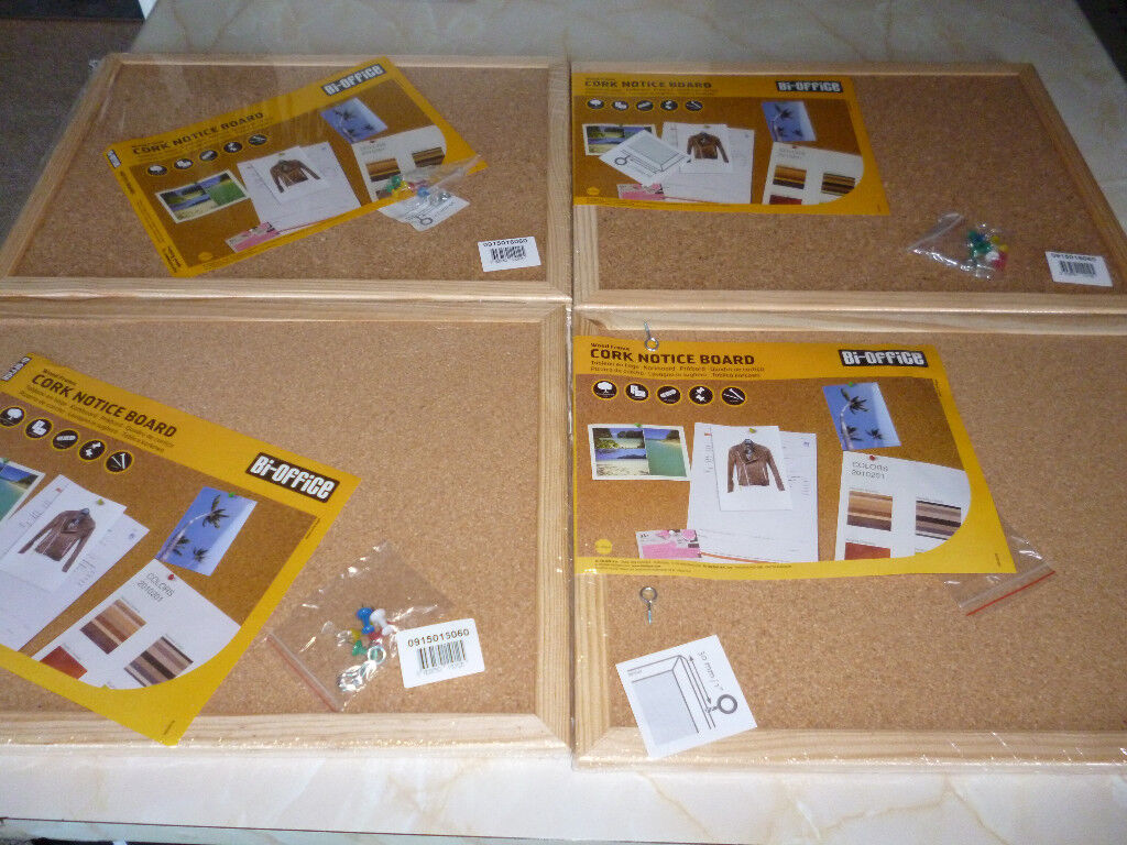 3 X BRAND NEW CORK PINBOARDS WITH PINE SURROUND