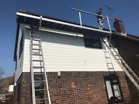 5 meter platform with 2 sets of ladders, all hand rails and kickboards included
