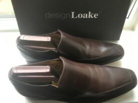 Dark Brown Leather Loake Slip On Size 9