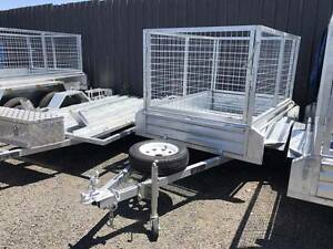 Brand New Galvanised 7x5 Cage Box Trailer 900mm Cage Height Rego Cabramatta Fairfield Area Preview