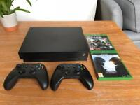 Xbox One X 1TB - Mint Condition - Boxed - 2 Controllers - 2 Games