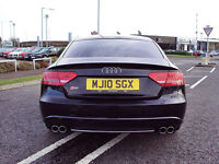 GENUINE AUDI A5 S5 SPORTBACK REAR BUMPER WITH QUAD EXIT DIFFUSSER WILL FIT 5DR MODEL 2010 ONWARDS