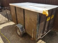 Metal and ply box trailer
