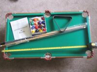 3ft billard table , balls and cues included