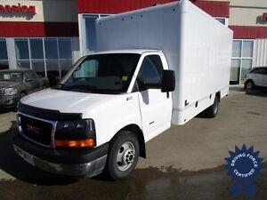 2013 GMC Savana G3500 Diesel Cube Van 16' ITB Van Body & Ramp