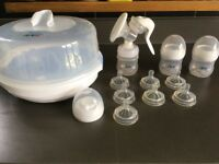 Philips Avent Baby Microwave Steriliser, Breast Pump, Bottles, Teats, feeding set