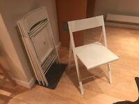 Ikea folding chairs x 4