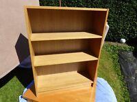 Oak coloured Ikea bookshelf