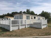 Static caravan for sale - decking & hot tub - family caravan