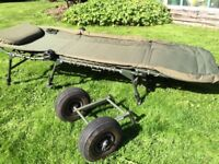 Fishing Bundle all used, Bags, Rod Bag, Bed chair and Brolly