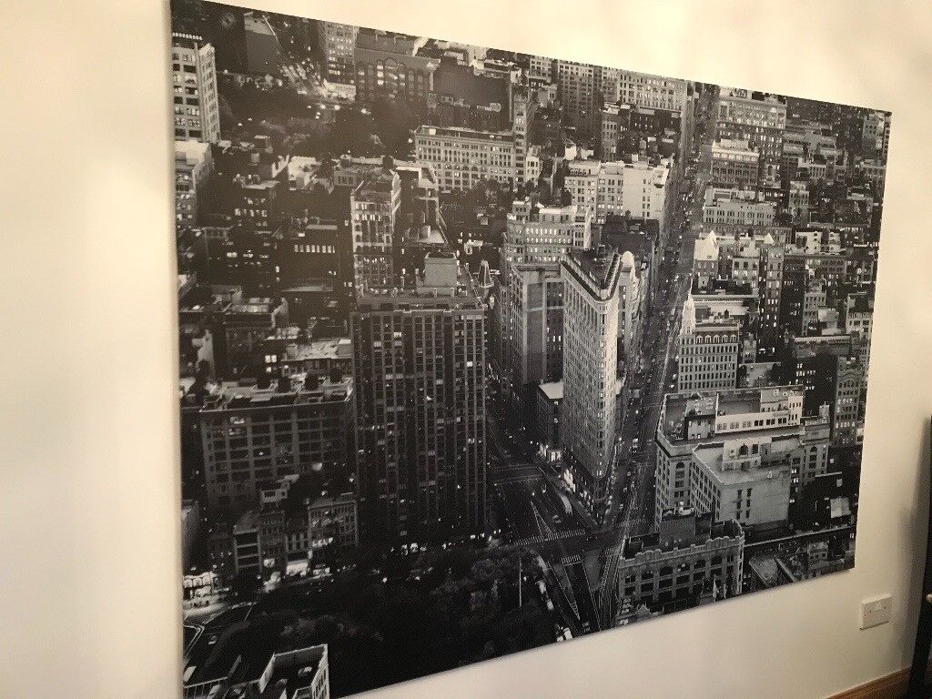 Large black and white NYC canvas for sale...