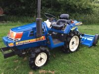Iseki TU150 4WD Compact Tractor with New 4FT Flail Mower, 800 Hours, Excellent Condition