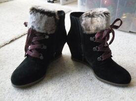 Clarkes Ankle boots. Brand new, never worn. 2inch wedge heel
