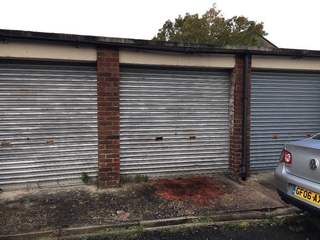 Double Car Garage Plus A Single Garage With 18 Foot Door