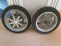 1150 bmw gs spoke wheels with tyres