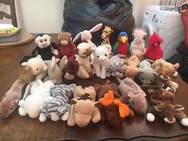 TY beanie babies some with tags soft toys