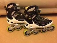 Oxylo (Decathlon) Junior In-line skates (adjustable in size).